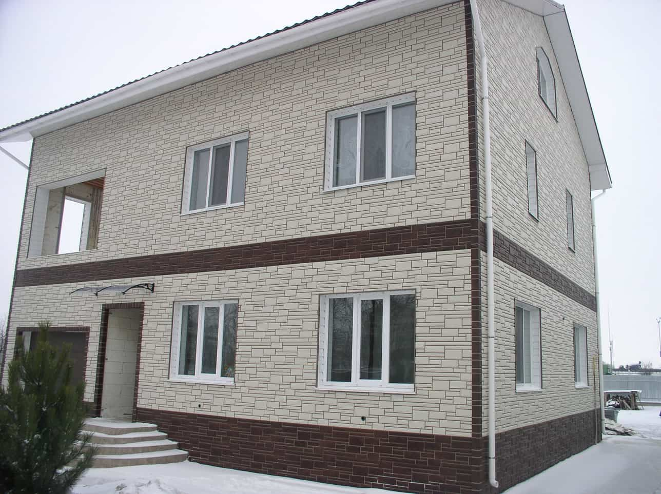 5 Tips On Choosing The Right Cladding For Your House. Simple casual exterior of the two-story house in light stone finishing