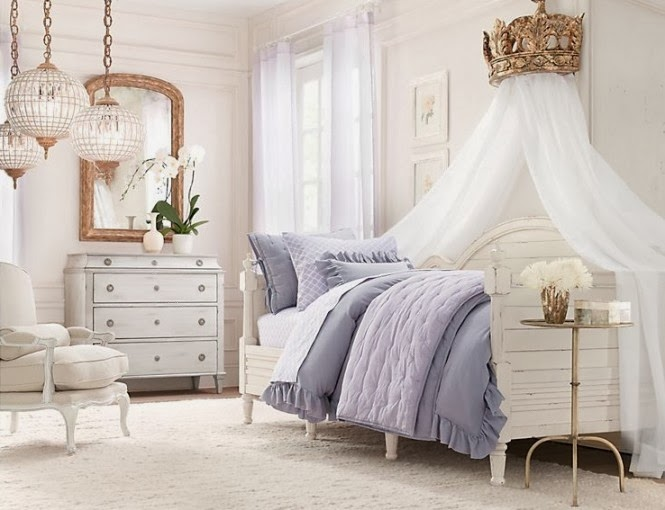 Shabby chic is a great style to apply bed canopy