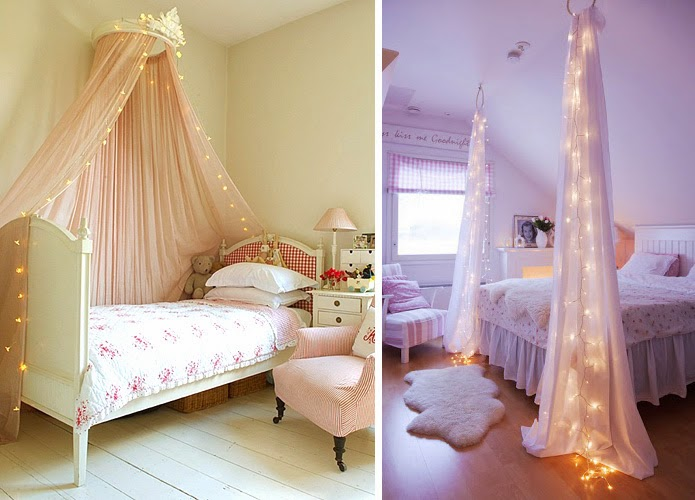 Bed Canopy in the Bedroom Interior Photo Ideas. Light decoration of the bed in modern neutral painted bedrooms