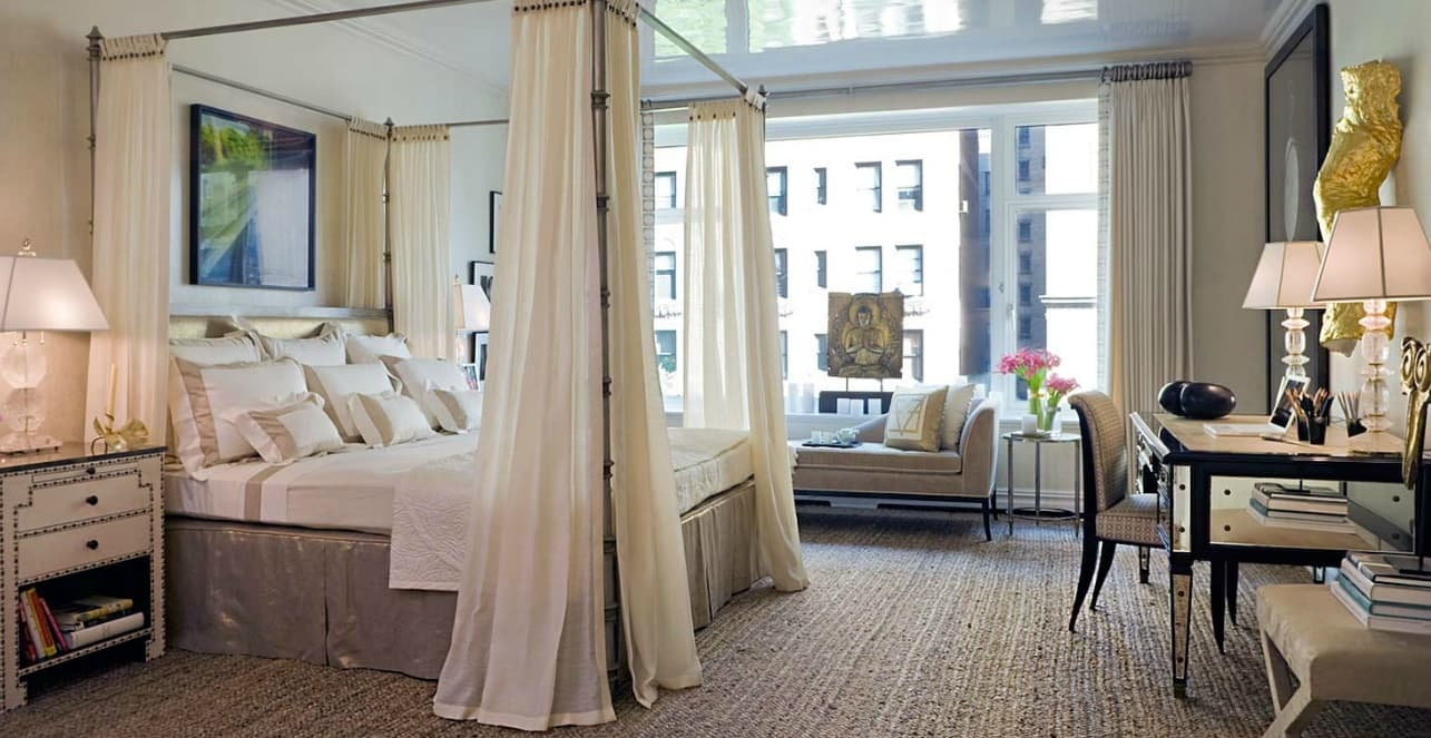 Urban modern styled bedroom with canopy for more relaxation and privacy