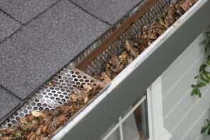 5 Important Reasons to Keep Your Gitters Clean. Clogged with leaf roof gutter