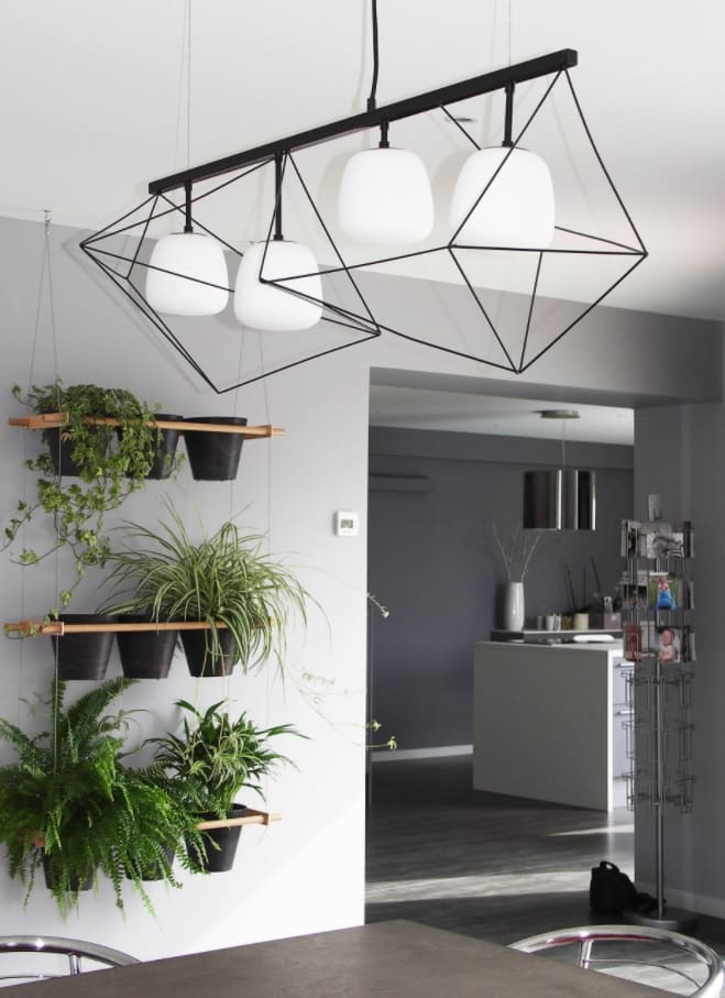 4 Tips to Help You Make the Most of Your Home Remodel. Gray colored walls and steampunk styled lampshades in the eco friendly interior