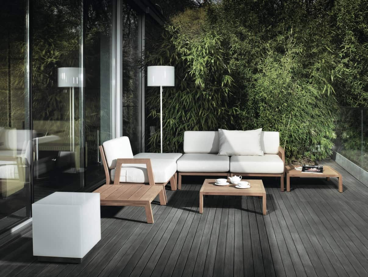 Top Tips for Designing Your Patio. Gray colored patio deck and white furniture