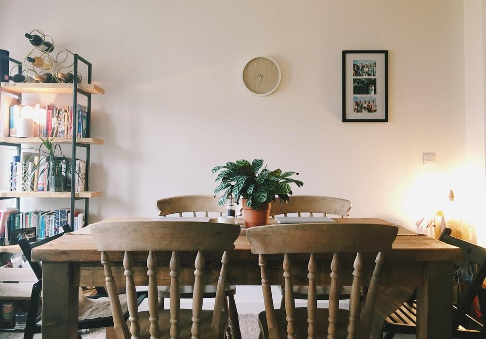 5 Easy Ways to Transform Your Dining Room. Pale peach colored room with classic minimalism
