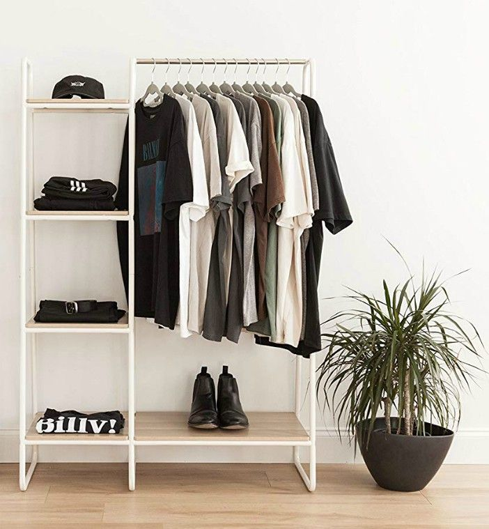 12 Useful Cleaning Tips For People Who Hate Cleaning. Open clothing rack