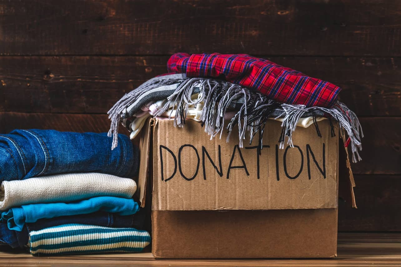 5 Reasons To Donate Your Old Belongings. The cardboard box with personal things