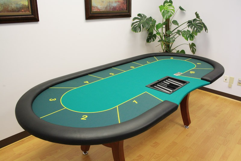 Standard poker table for small room
