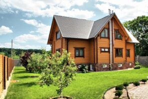 How to Get Your Home Ready for Spring. The log acbin house at the bosom of nature