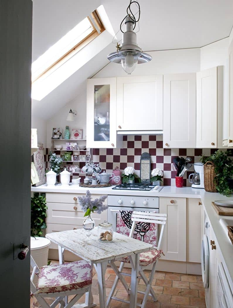 Pros and Cons of Small Kitchens. Loft kitchen with mosaic backsplash