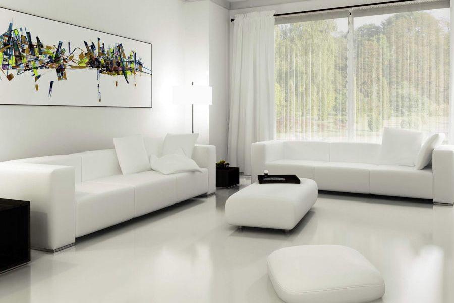 White Wallpaper Interior Design Ideas. snow white modern styled room