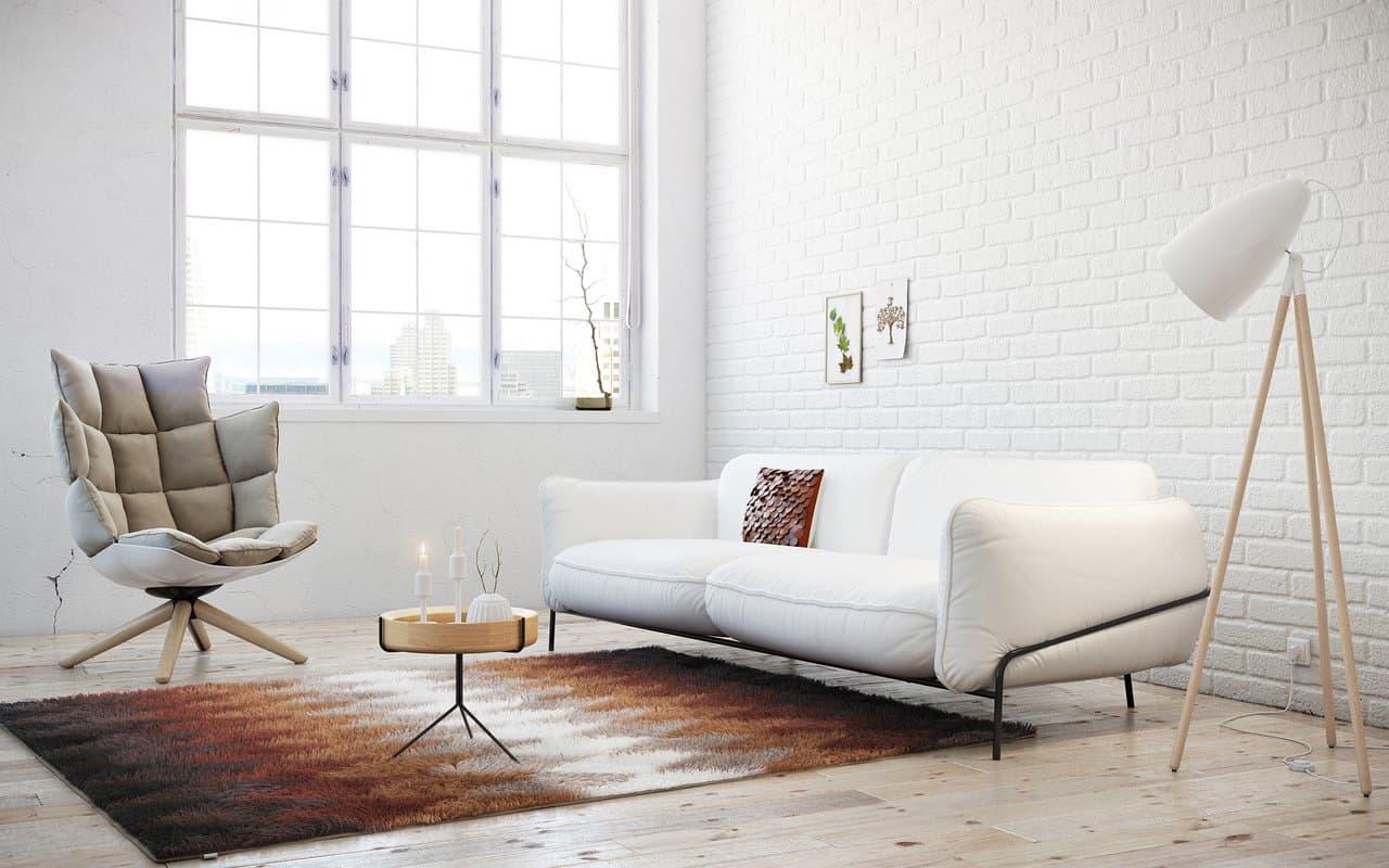 White Scandi styled room for the trendy living room