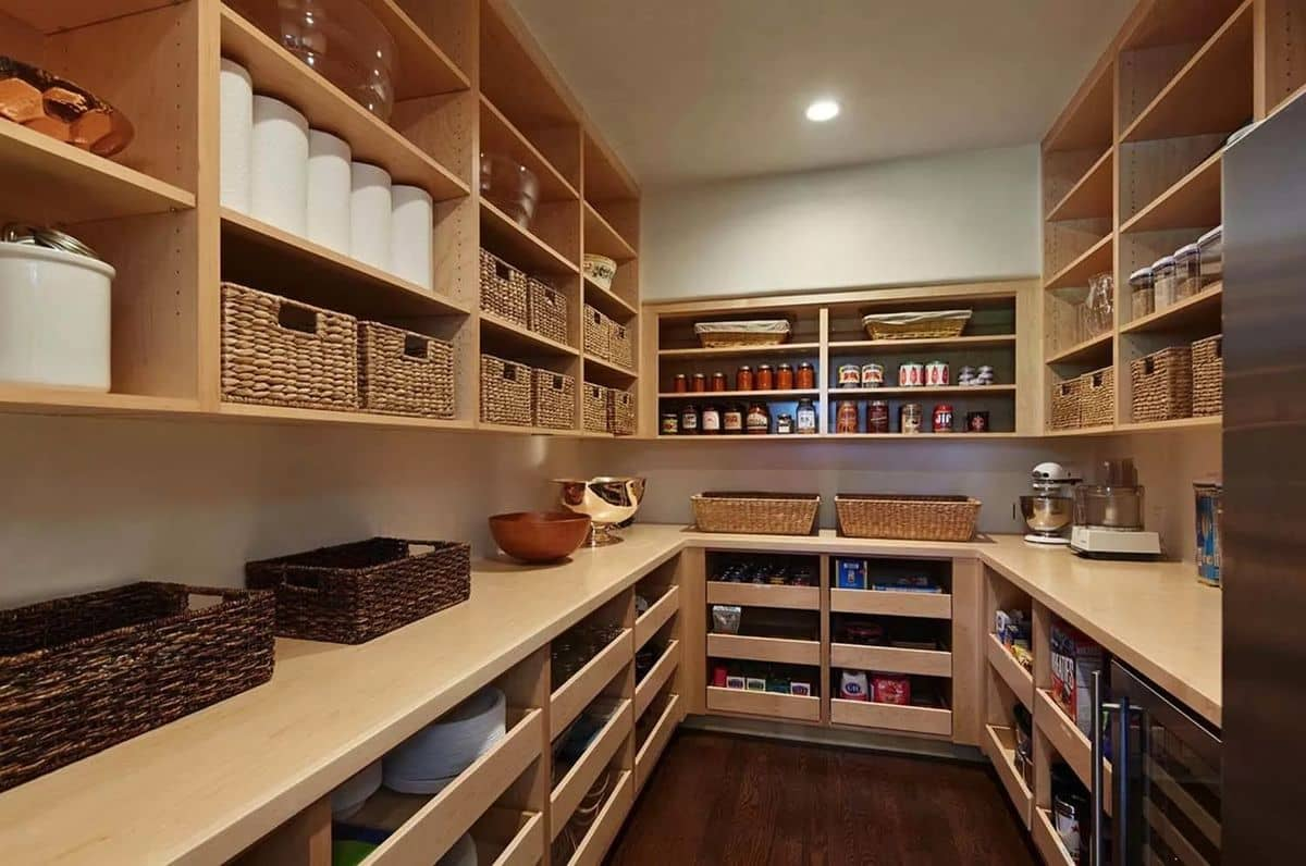 14 Marvelous Ideas for a Home Extension Design. Storage room with wooden shelves