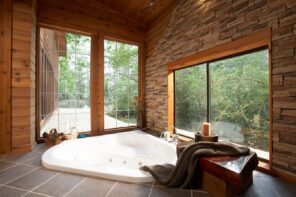 14 Marvelous Ideas for a Home Extension Design. Panoramic windows at the spa room in Oriental style
