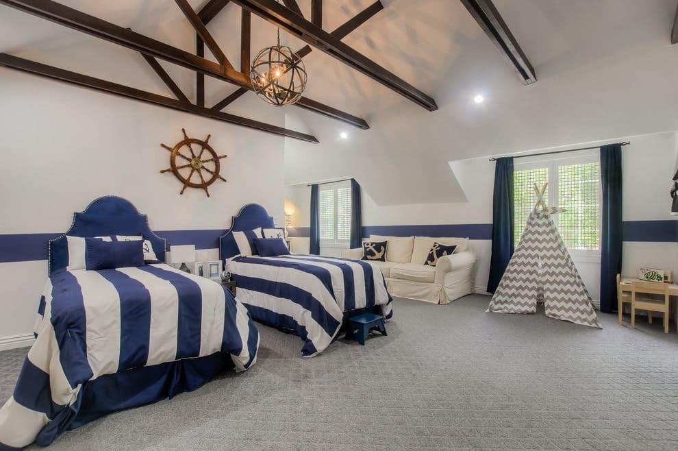 10 Fascinating Bedroom Designs. Coastal room design for two kids