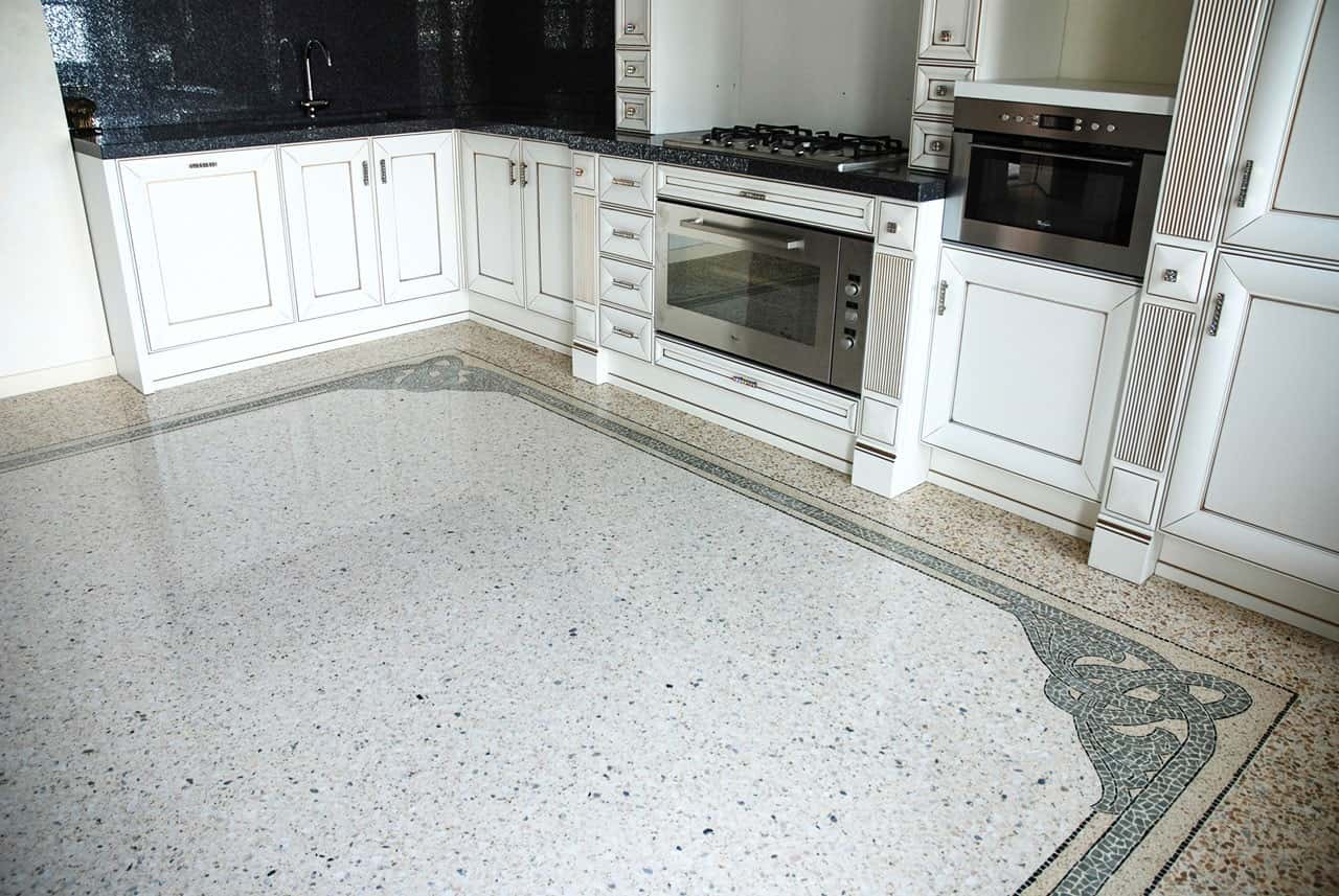 A Guide To Using Granite In Your Kitchen. Speckless floor design representing granite structure
