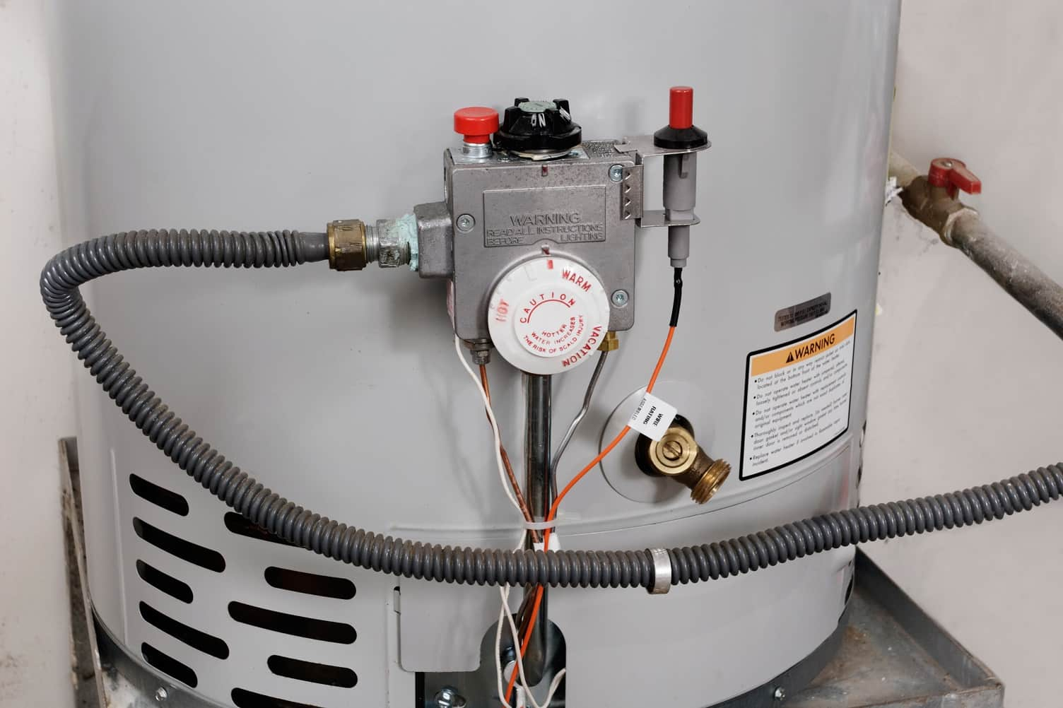 5 Construction Myths On Water Heating Services You Shouldn't Believe. Thermostat at the back of the case