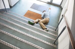 5 Ways To Prevent Falls, Slips, And Trips On Your Staircase. Accident on the stairs