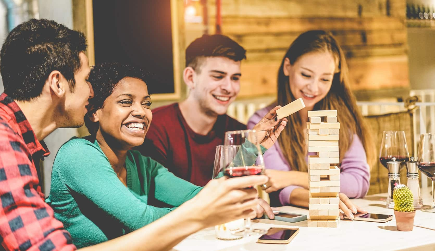 5 Tips For Setting Up A Fun Entertainment Space. Loud party at the board games