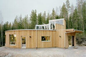 Eco Living: How To Sustainably Remodel Your Home In 3 Easy Steps. Ecodesign house project in the forest