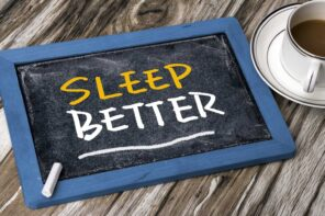 Trouble Sleeping? Here's How To Promote Better Sleep. Chalkboard