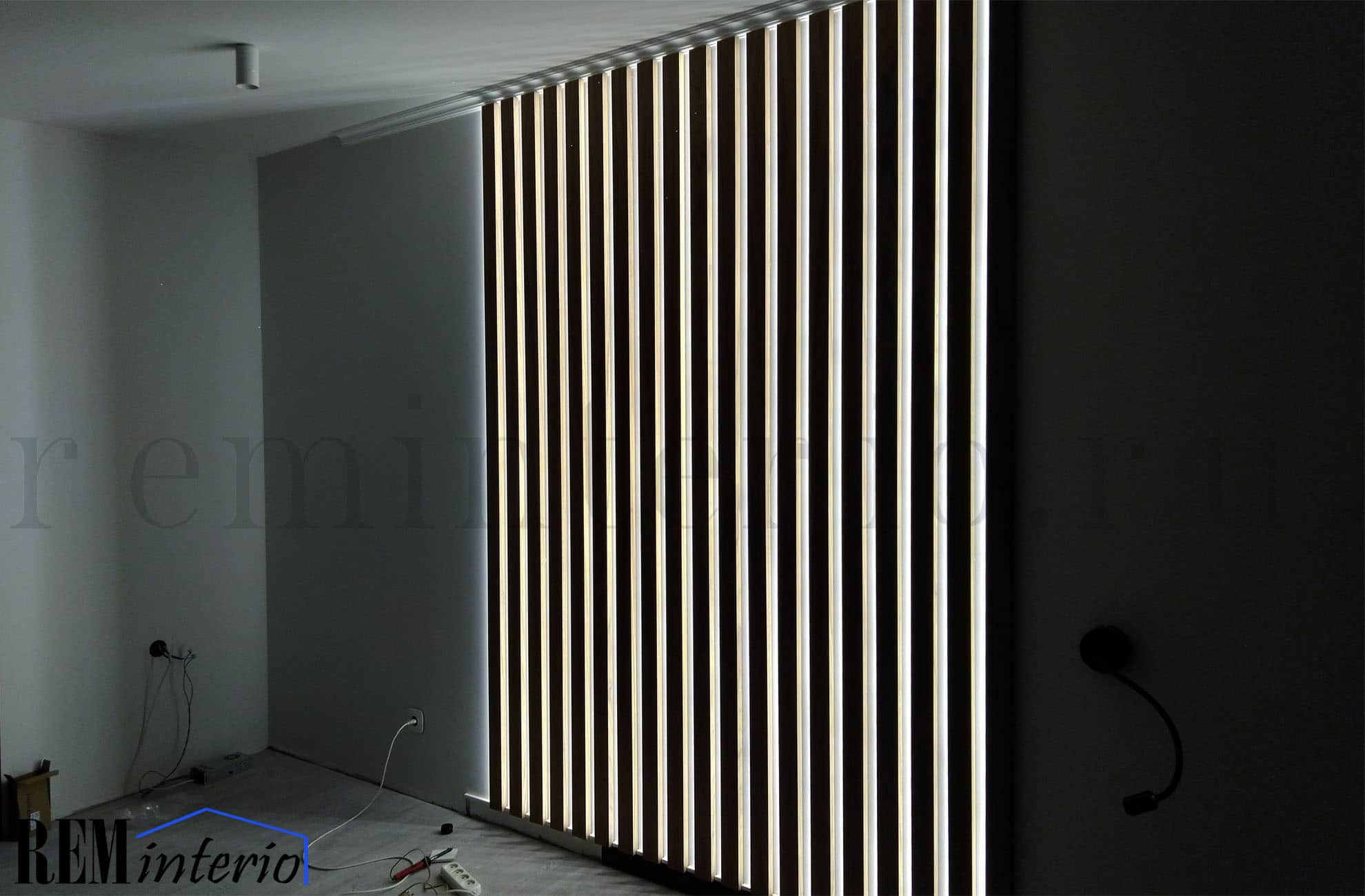 Ways for Using LED Strip Tapes. Great interior lattice with backlight idea