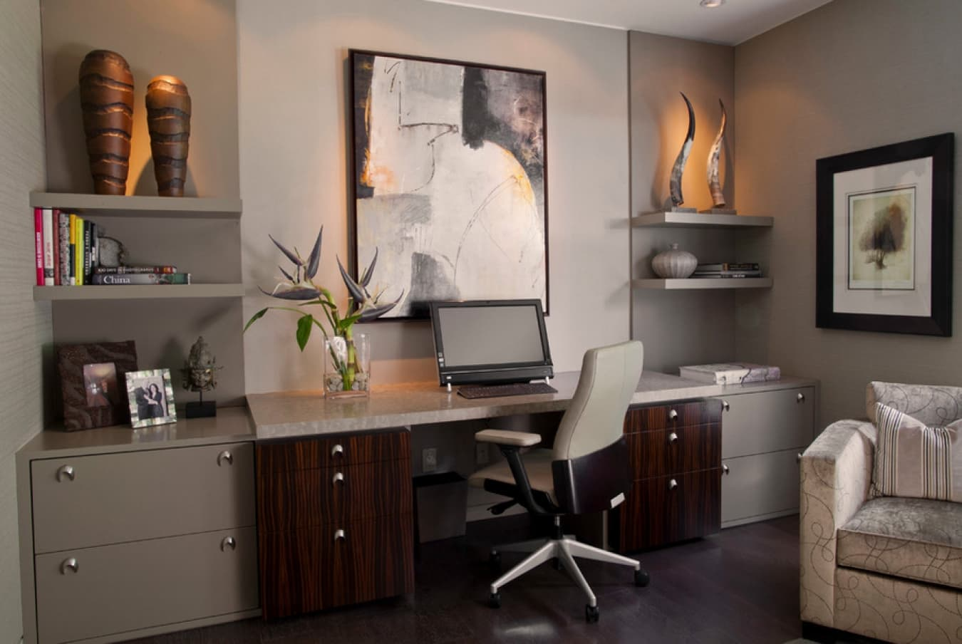 Don't Move, Improve: Easy Ways To Change The Look And Feel Of Your Old Home. Classic home office design with wooden furniture