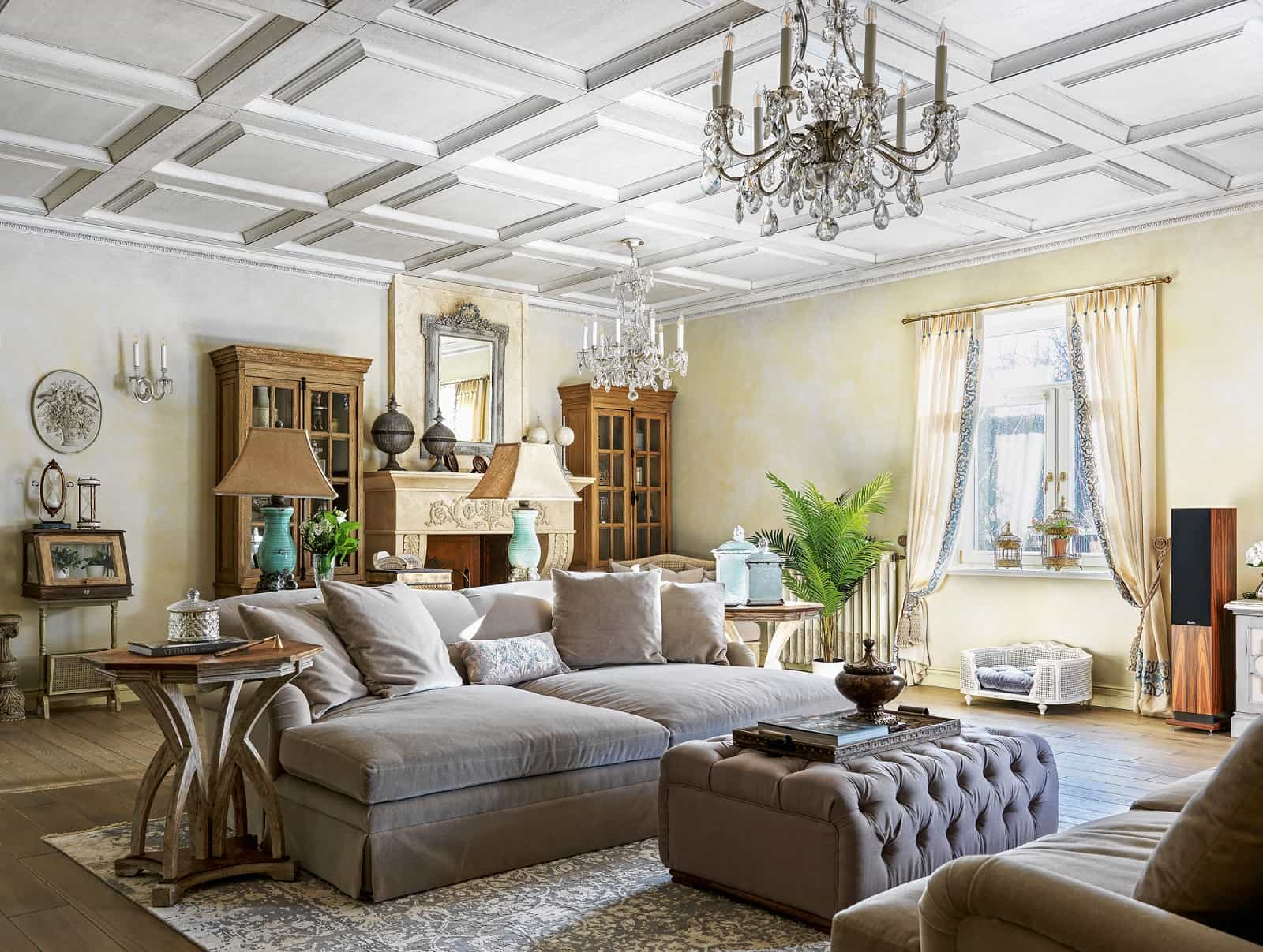 10 Tips for Cleaning a House You Have Inherited. Great light classic interior with quilted coffee table and large sofas for relaxation