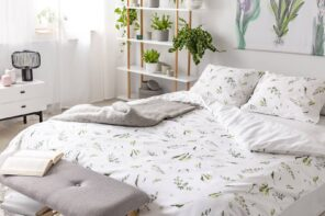 How To Find The Perfect Bedding For Your Room. Relaxing casual atmosphere in the bedroom with gray and white colors