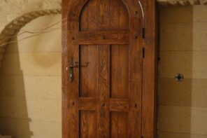 Finding the Perfect Oak Doors for Your Home. Massive carved door for the ground level