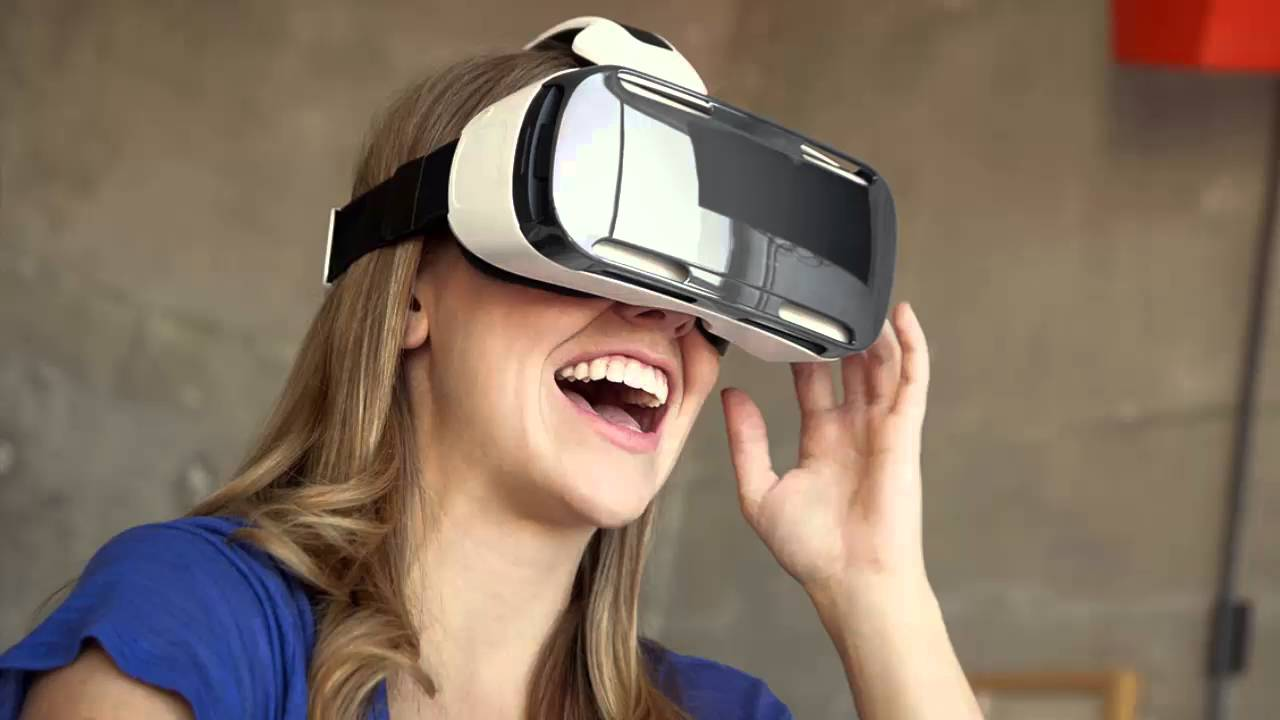 Virtual and Augmented Reality Interior Design. Wearing VR goggles