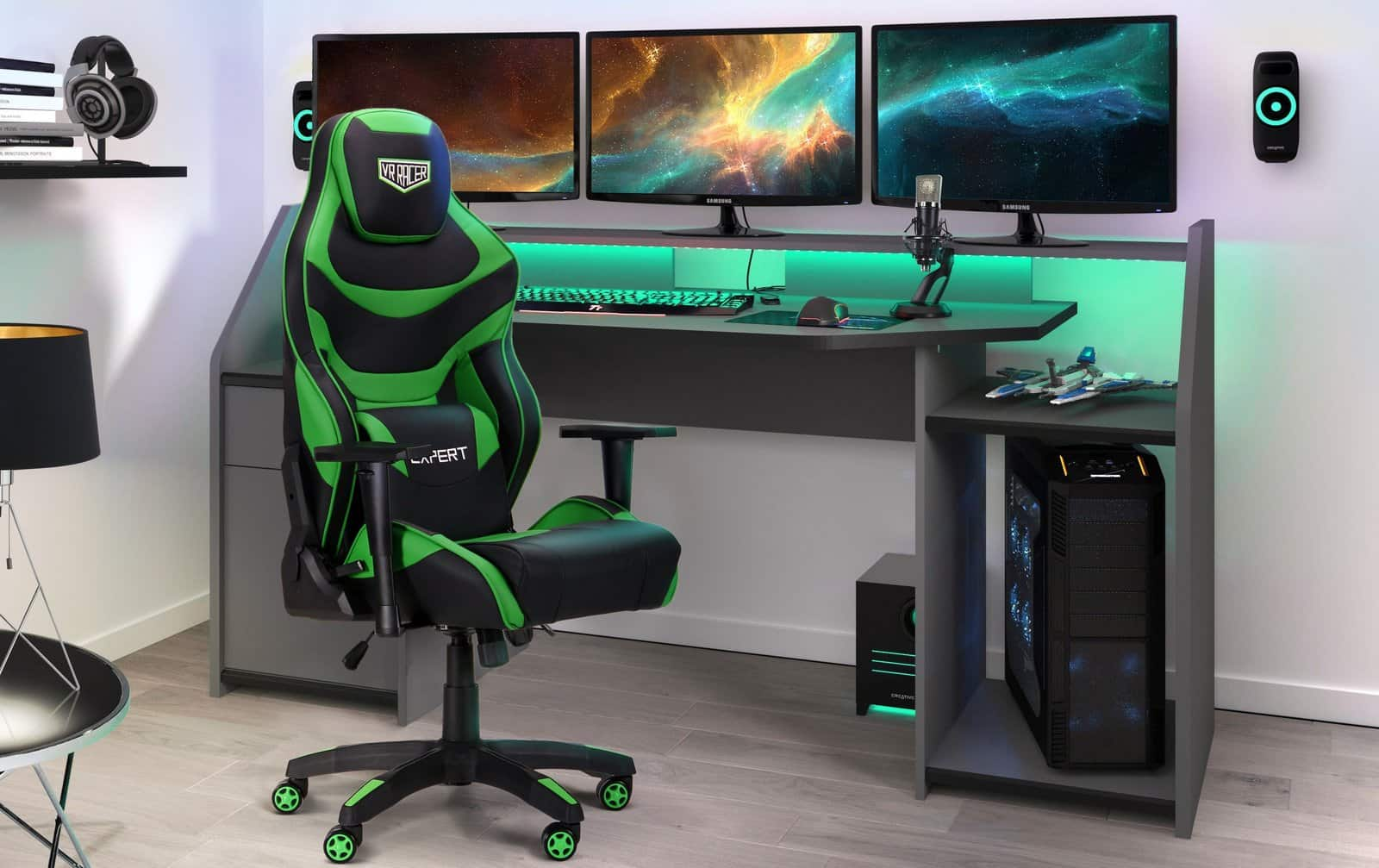 Designing a Gaming Den for the Kids - 5 Things You Need. LED lighting and gaming chair for full-fledged playground