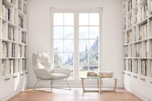How Highlighting House Features Can Help You Sell. Sash window to the floor for the light decorated minimalistic living room