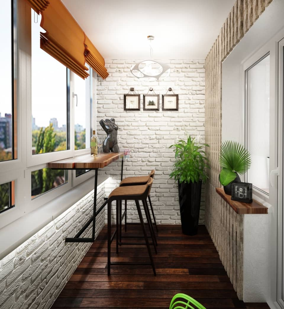 5 Uses for Your Balcony: Fresh Design Ideas. Modern LED backlight of the tiled walls with texture and the seating area