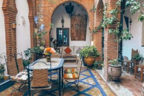 Home Improvements: How to Make Your Patio More Comfortable. Mediterranean styled atrium inside the backyard finished with brickwork
