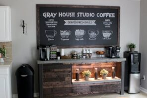 6 Unique Additions to Your Home that Boost Moods. Improvised coffee bar at home