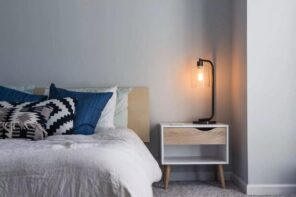 How To Choose The Right Furniture For Your New Home. White bedroom with Scandi minimalistic furniture and matte finished walls