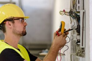 Household Jobs You Should Leave to a Professional. Electrician at the switchboard