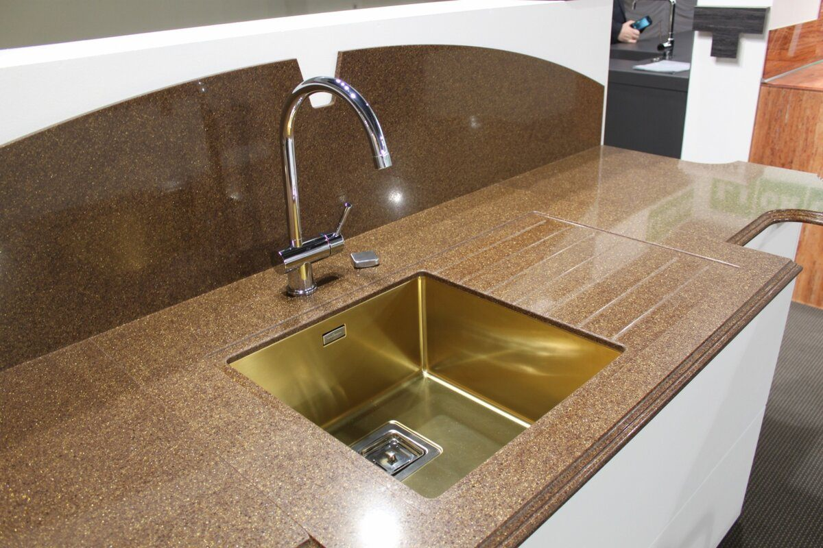 Spectacular copper sink and large arched tap