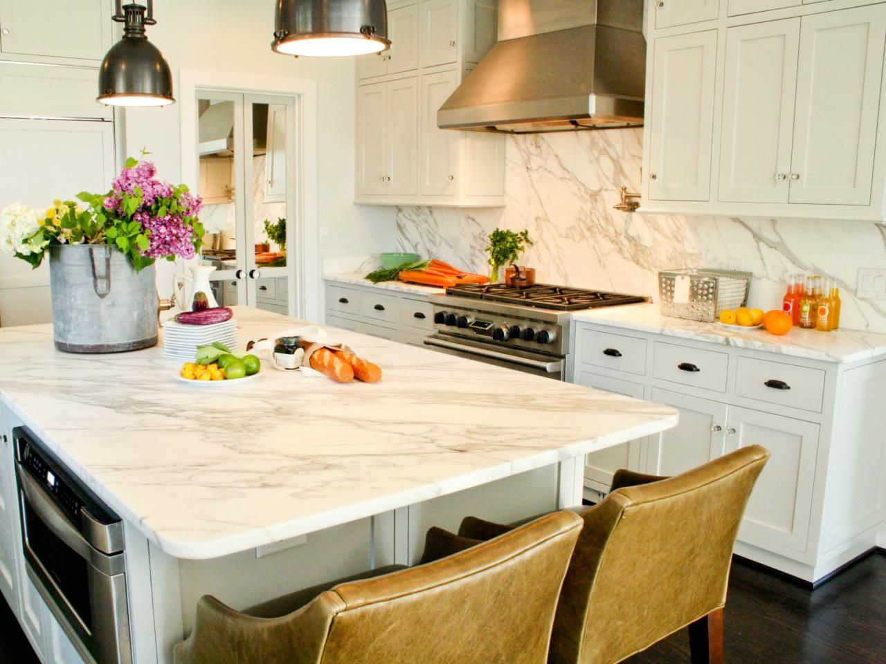 Marble kitchen additions for classic interior