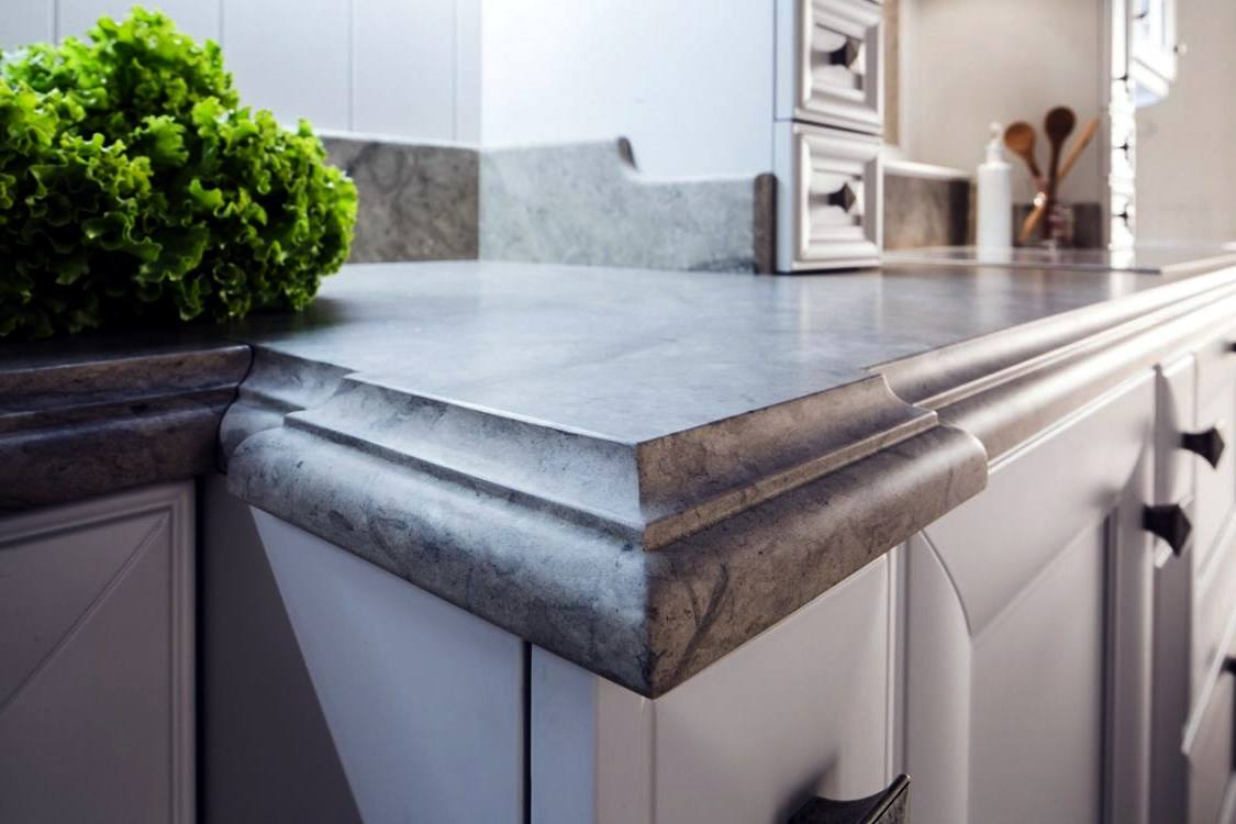 Kitchen Countertop Types, Design Options, and Usage Parameters. Great wavy skirt design
