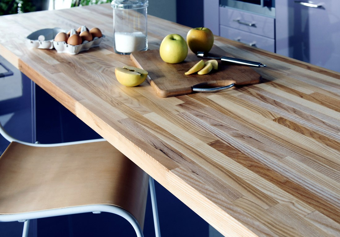 Kitchen Countertop Types, Design Options, and Usage Parameters. Glued laminated timber countertop