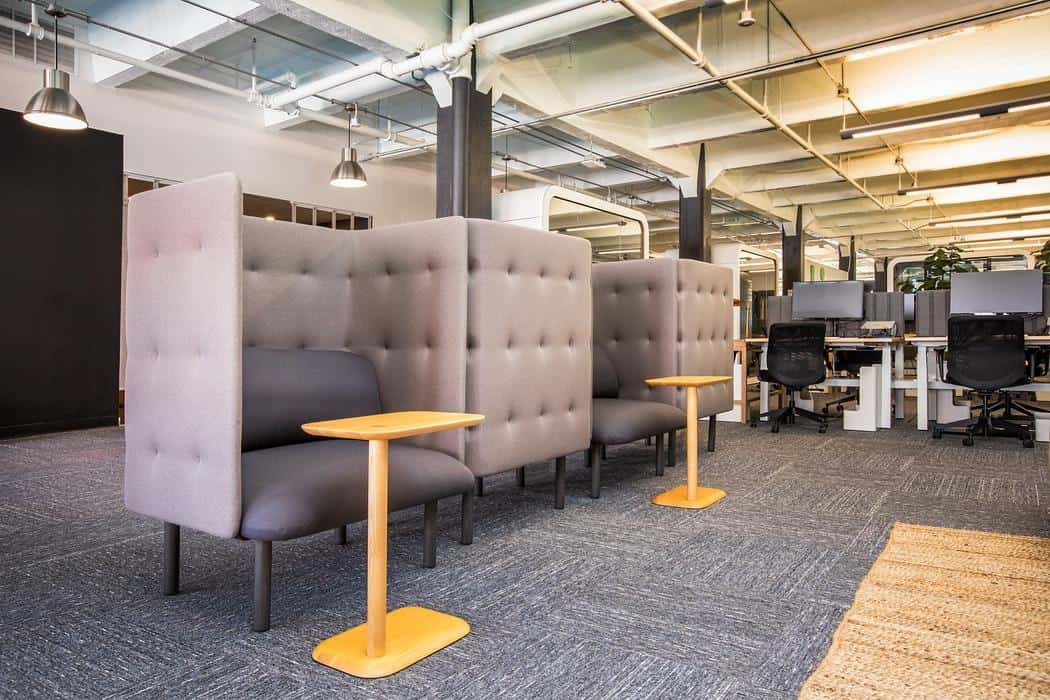 Portable Walls in the Interior of the Modern Apartment. Delimiting zones in the urban styled restaurant