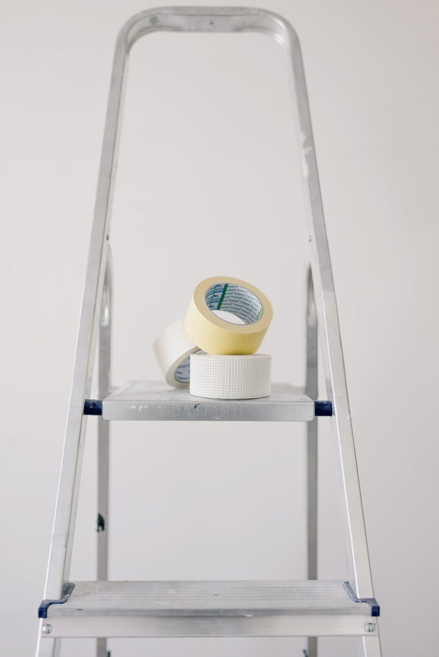 How To Transform Your Home's Style On A Budget: 6 Proven Tips. The ladder helper and adhesive tape
