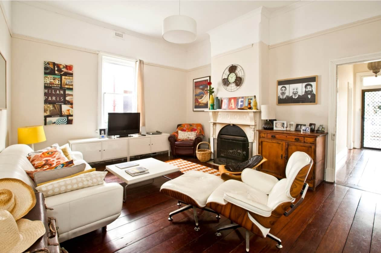 2 DIY Jobs You Can Do and 3 You Should Leave to the Experts. Casual living room with Eames chair and white calming interior